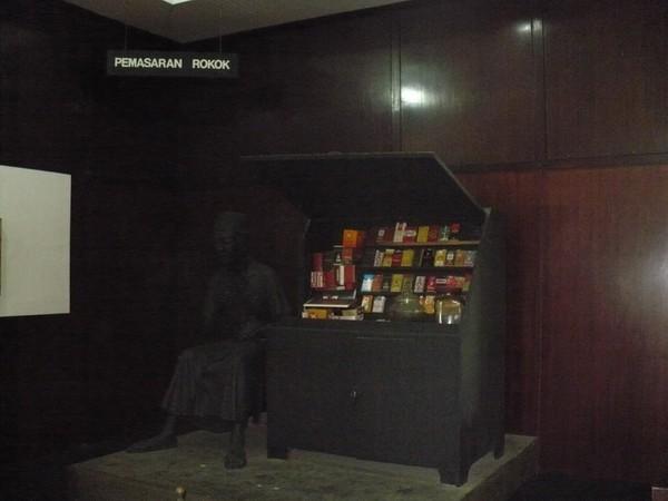 Diorama penjual rokok kretek (ACI)