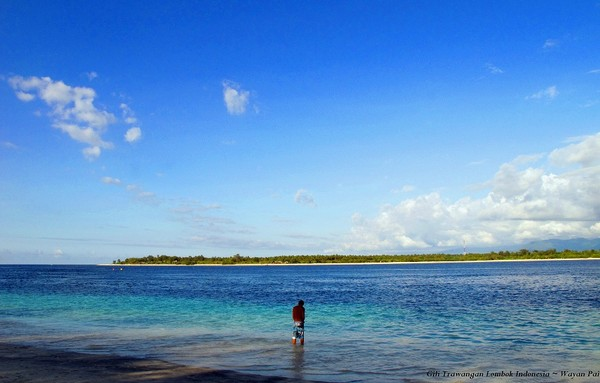 Keindahan pantai Gili Trawangan, Lombok