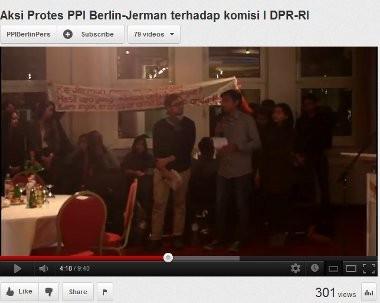 Diupload di Youtube, Mahasiswa Indonesia di Jerman Tolak Kedatangan Anggota DPR