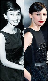 1. Audrey Hepburn & Rooney Mara