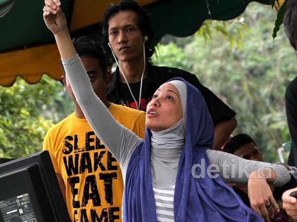 Ekspresi Rachel Maryam Jadi Sutradara