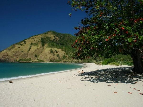 Lihatlah suasana tenang dan damai di sepanjai Pantai Mawun (Sumber: memobee.com)