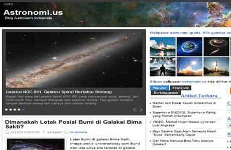 Screenshot www.astronomi.us