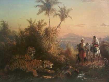 Harimau-harimau Raden Saleh di Galeri Nasional