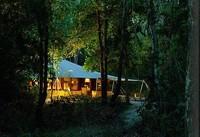 Tenda ini menjadi penginapan para traveler di tengah hutan Moyo (baliseaside.com)