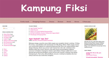 Screenshot www.kampungfiksi.com