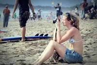 Turis di Pantai Kuta (Muhammad Putra/dTraveler)