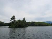 Pulau Hosena dari kejauhan (Sastri/ detikTravel)