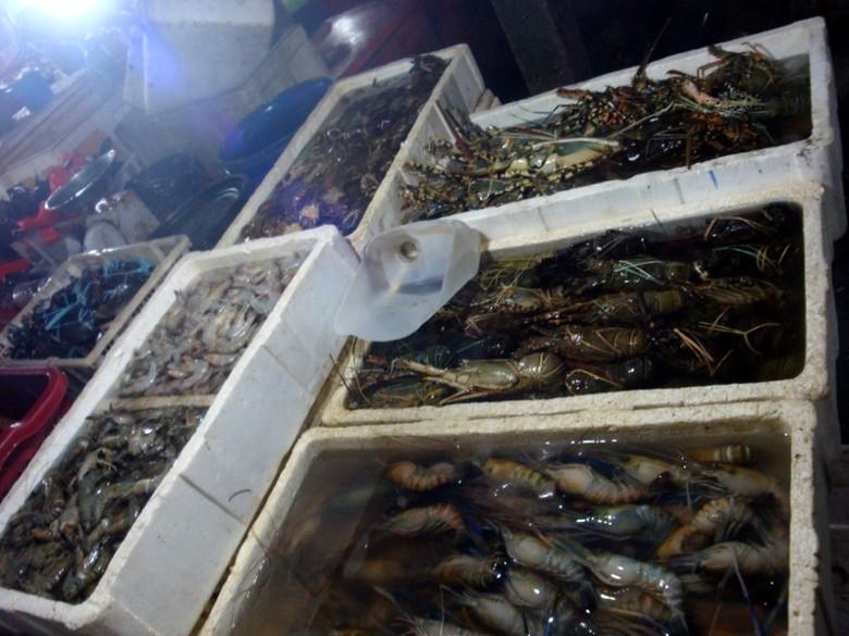 Ragam jenis seafood yang bisa dibeli di Pasar Kedonganan (Shafa/detikTravel)