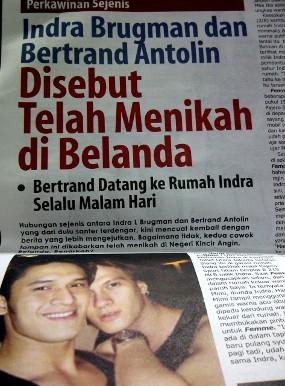 Indra Brugman & Bertrand Antolin Menikah di Belanda?