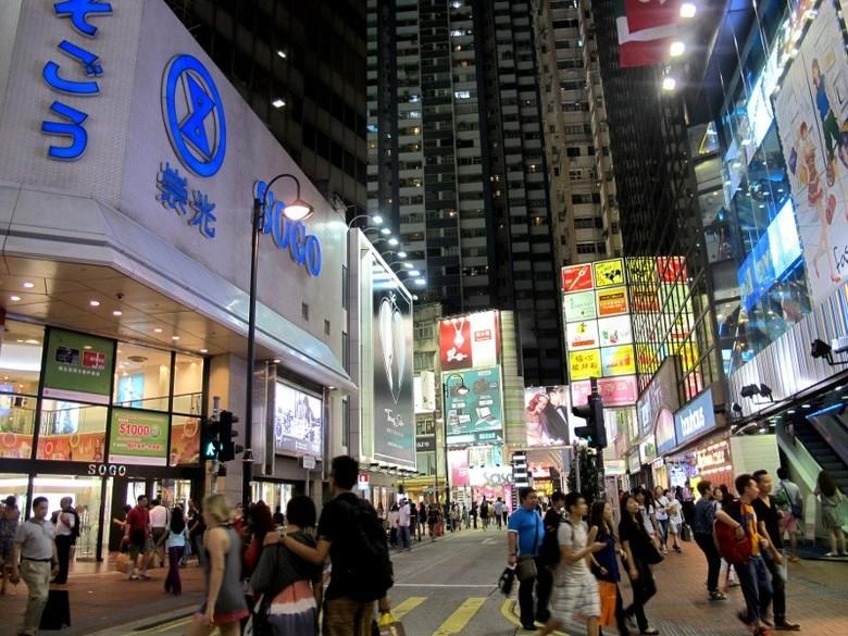 Kawasan Causeway Bay (Shafa/detikTravel)