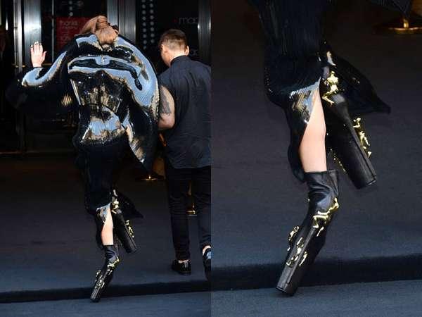 Sepatu Super Tinggi Lady Gaga