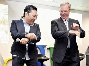 Bos Google Disambut PSY dengan Gangnam Style