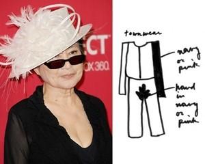 Tubuh John Lennon Jadi Inspirasi Koleksi Busana Yoko Ono
