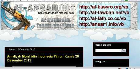 Situs Alansar007 Ungkap Pernyataan Teroris Penyerang Brimob di Poso