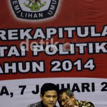 KPU Tetapkan 10 Parpol Sebagai Peserta Pemilu Tahun 2014