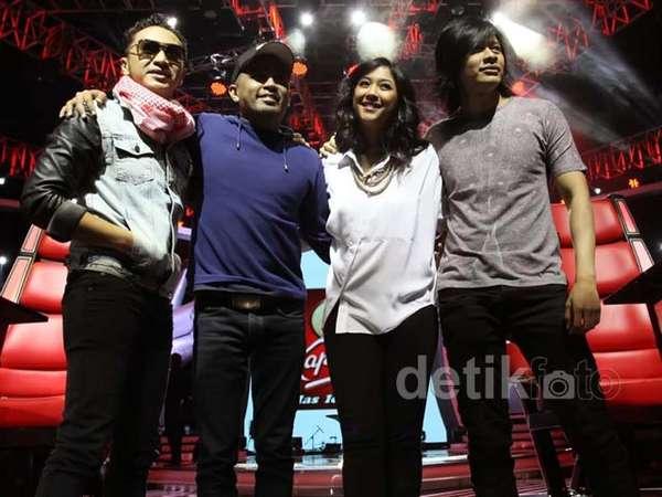 Aksi Para Mentor The Voice Indonesia