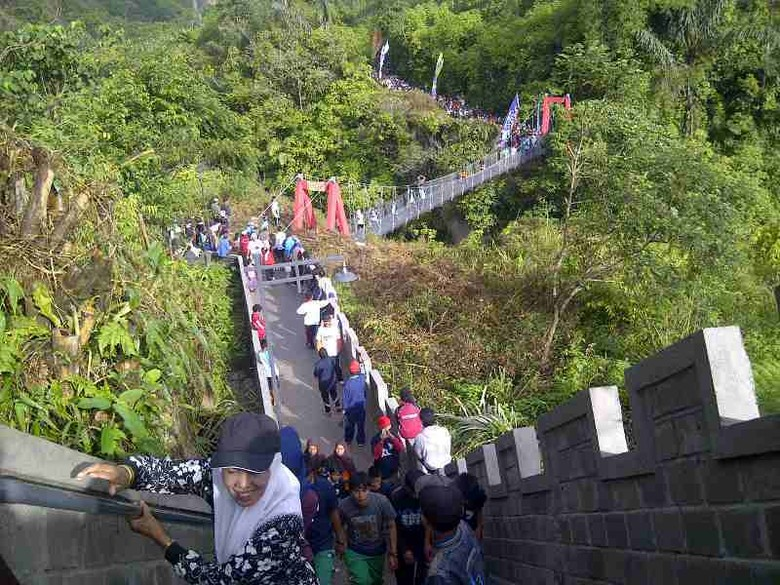 Ini nih 'Great Wall' ala Bukittinggi (Indra/detikTravel)