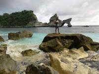 Pulau kecil di depan Pantai Atuh