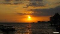 Sunset dari dermaga Kayu Bangkoa