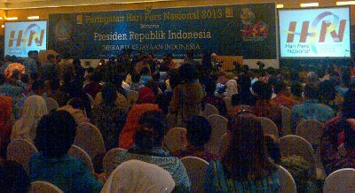 Presiden SBY Hadiri Puncak Hari Pers Nasional 2013 di Manado
