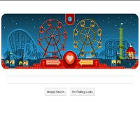Valentine & George Ferris Meriahkan Google Doodle