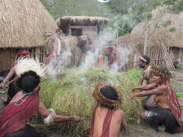 Bakar Batu, tradisi dari Suku Dani (Sastri/detikTravel)