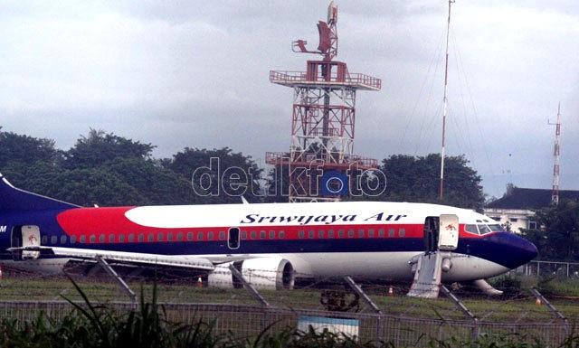 Pesawat Sriwijaya Tergelincir di Bandara Internasional Minangkabau