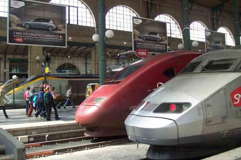 Kereta peluru TGV, Thalys, dan Eurostar di Stasiun Gare du Nord, Paris, yang bisa dipesan menggunakan Eurail (Fitraya/detikTravel)