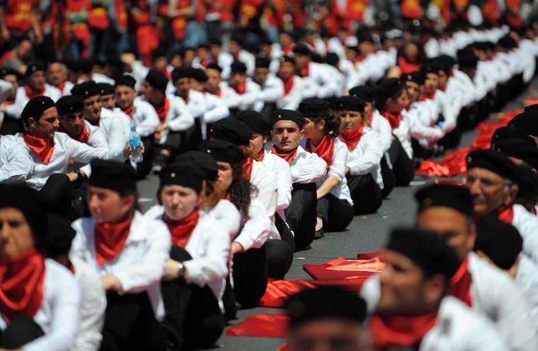 Hari Buruh tahun 2012 di Istanbul, Turki (National Post)