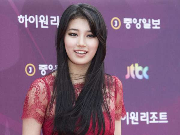 Cantiknya Suzy miss A Bergaun Pink
