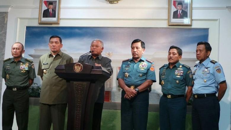 Presiden SBY, Menhan dan Panglima Rapat Bahas Peta Kekuatan TNI