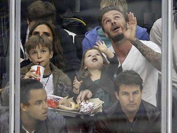 David Beckham dan Tom Cruise Nonton Bareng