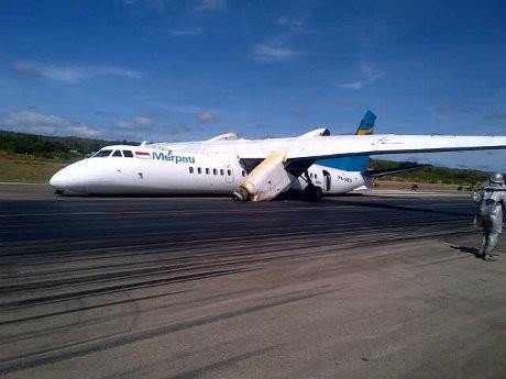 Pesawat Merpati Belum Bisa Dievakuasi, Bandara El Tari Masih Tutup
