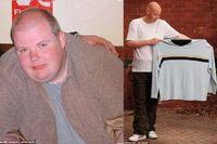 Steven Goodwin sebelumnya memiliki bobot 190 kg karena bertahun-tahun mengonsumsi makanan cepat saji dan minuman soda. Ia didiagnosis pneumonia dan diabetes parah. Menurut dokter, ia hanya punya waktu beberapa hari sebelum kematian dan harus menurunkan bobotnya segera. Ia akhirnya bergabung dengan klub penurunan berat badan dan mulai mengatur makanan sehat serta olahraga. Dalam waktu 13 bulan, Steven berhasil menurunkan hampir 108 kg bobotnya. (Foto: SWNS)