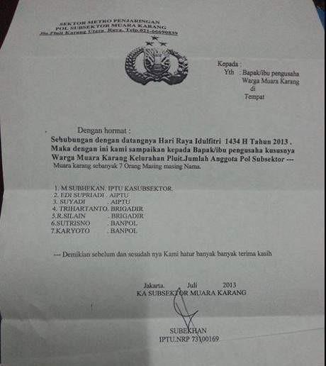 Waspadai Surat Palsu Permintaan Thr Dari Pencatut Polisi