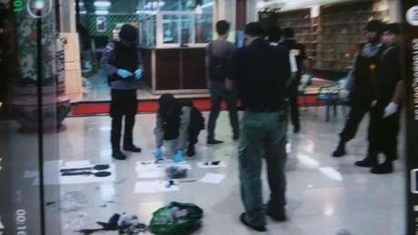 Bom Kedua Diletakkan di Belakang Patung Budha Maitreya di Vihara Ekayana