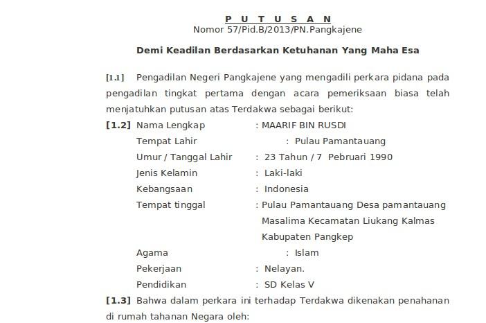 Pertama Di Indonesia Format Baru Putusan Vonis Mati Maarif