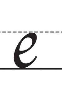 7. Lengkungan di huruf e kecil