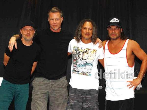 Jumpa Pers Metallica di Jakarta