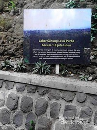 Tanah di museum purba merupakan lahar gunung lawu purba