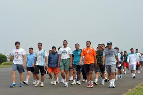 Kegemukan, Anggota TNI AU di Halim Digembleng Latihan Fisik