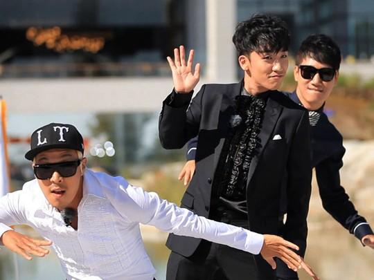 Serunya G-Dragon, Seungri, dan Daesung Syuting Running Man!