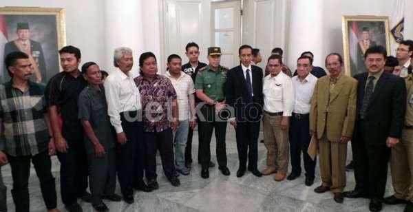 Ditemui Jokowi, Warga yang Tegang Jadi Tenang