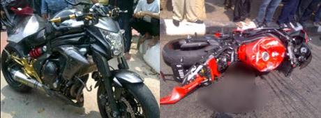Ini Kondisi 2 Motor Ninja yang Kecelakaan di Busway Jl Panjang