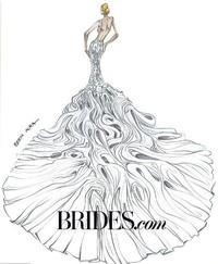12 Desainer Buat Sketsa Gaun Pengantin Untuk Kim Kardashian