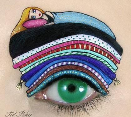 Unik Wanita Ini Percantik Mata Dengan Lukisan Sushi Hingga Putri