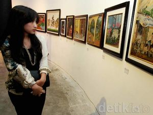 Lukisan Karya Pelukis (Alm) K.H Isa Djakasuria Dipamerkan