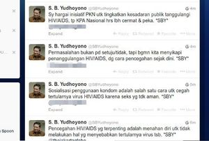Lewat Twitter, Presiden SBY Ikut Komentari Pekan Kondom