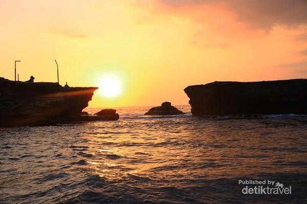 Salah satu kecantikan pantai di Bali